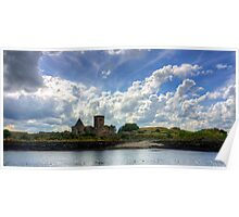 Clouds over the Abbey Poster