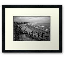 Cullercoats Beach Framed Print