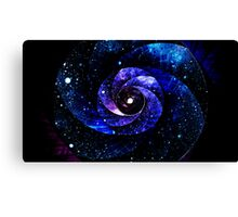 Warped Galaxy of Starlit Universe Canvas Print