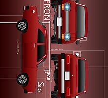 Ford Escort mk1 1972 - Dark Red I Pad by 8milesfromhome