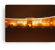 Historical palace at night Canvas Print
