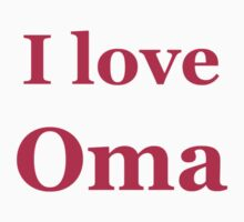 I love OMA One Piece - Short Sleeve