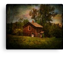 Pucky Huddle Farmhand House Canvas Print