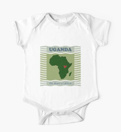 Uganda Heart of Africa One Piece - Short Sleeve