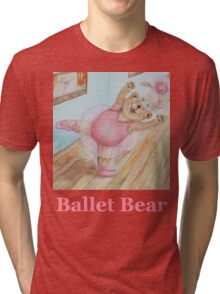 Ballet Bear  Tri-blend T-Shirt
