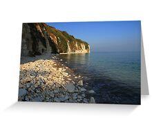 The Stunning Beach and White Cliffs at Danes Dyke - Flamborough Greeting Card