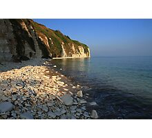 The Stunning Beach and White Cliffs at Danes Dyke - Flamborough Photographic Print