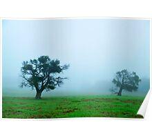 foggy morning field #2 Poster