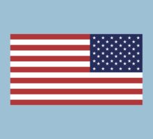 American Flag, ARMY, REVERSE FLAG, Stars & Stripes, Pure & Simple, America, US, USA One Piece - Short Sleeve