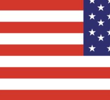 American Flag, ARMY, REVERSE FLAG, Stars & Stripes, Pure & Simple, America, US, USA Sticker