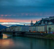 Sunrise in Salzburg by Johannes Valkama