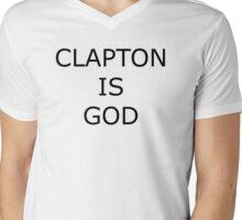 Eric Clapton is God Mens V-Neck T-Shirt