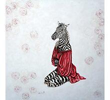 La femme zèbre - the zebra woman Photographic Print