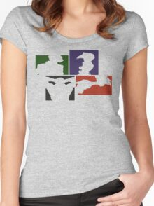 Cowboy Bebop Colored Panels Women's Fitted Scoop T-Shirt