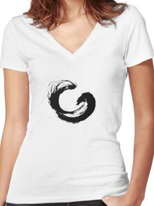 Enso 3 Women's Fitted V-Neck T-Shirt