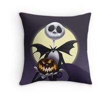 Jack Skellington before christmas Throw Pillow