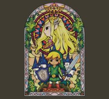 Link and Zelda Stained Glass by jackandcharlie