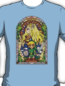 Link and Zelda Stained Glass T-Shirt