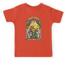 Link and Zelda Stained Glass Kids Tee