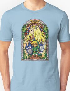 Link and Zelda Stained Glass Unisex T-Shirt