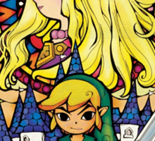 Link and Zelda Stained Glass Sticker