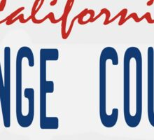 Orange County - California. Sticker