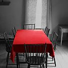 The Red Table Cloth by Randall Nyhof