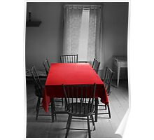 The Red Table Cloth Poster