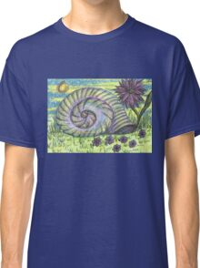 Snail Shell and Flower Classic T-Shirt
