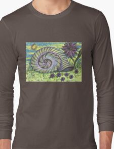 Snail Shell and Flower Long Sleeve T-Shirt