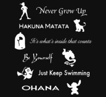 Disney lessons learned (White) T-Shirt