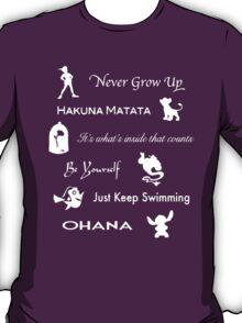 Disney lessons learned (White) T-Shirt