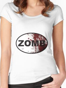 OutRunning Zombies Women's Fitted Scoop T-Shirt