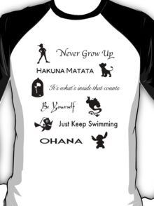 Disney lessons learned (Black) T-Shirt