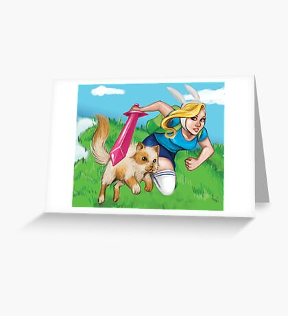 Fionna & Cake Greeting Card