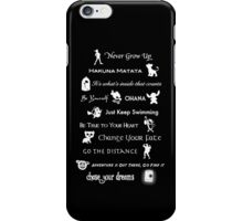 Disney lessons learned Mash-up iPhone Case/Skin