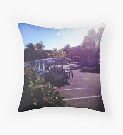 Buggies at Rest Throw Pillow