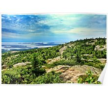 View from Cadillac Mountain, Acadia National Park, Maine, USA Poster