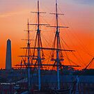 USA. Massachusetts. Boston. USS Constitution. Flag Lowering Ceremony. by vadim19