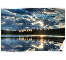 Clearing Storm Over Spooner Lake Poster