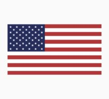 American Flag, LEFT BREAST, Over the Heart, Stars & Stripes, Pure & Simple, America, USA by TOM HILL - Designer