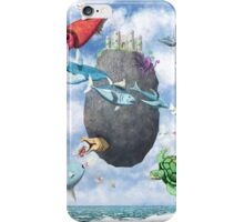 Floating Castle and Flying Fish iPhone Case/Skin