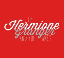 I'm Hermione Granger, and you are? by TheMoultonator