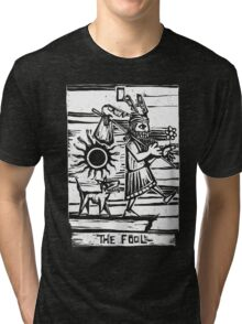 The Fool - Tarot Cards - Major Arcana Tri-blend T-Shirt