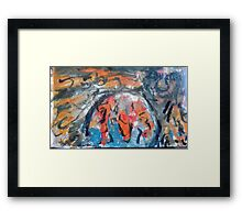 Tiamat and Abzul creating the world Framed Print