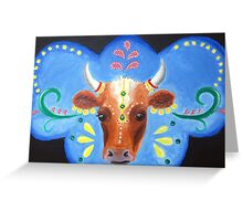 Bollywood Cow Greeting Card