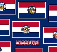 Smartphone Case - State Flag of Missouri - Horizontal VI by Mark Podger
