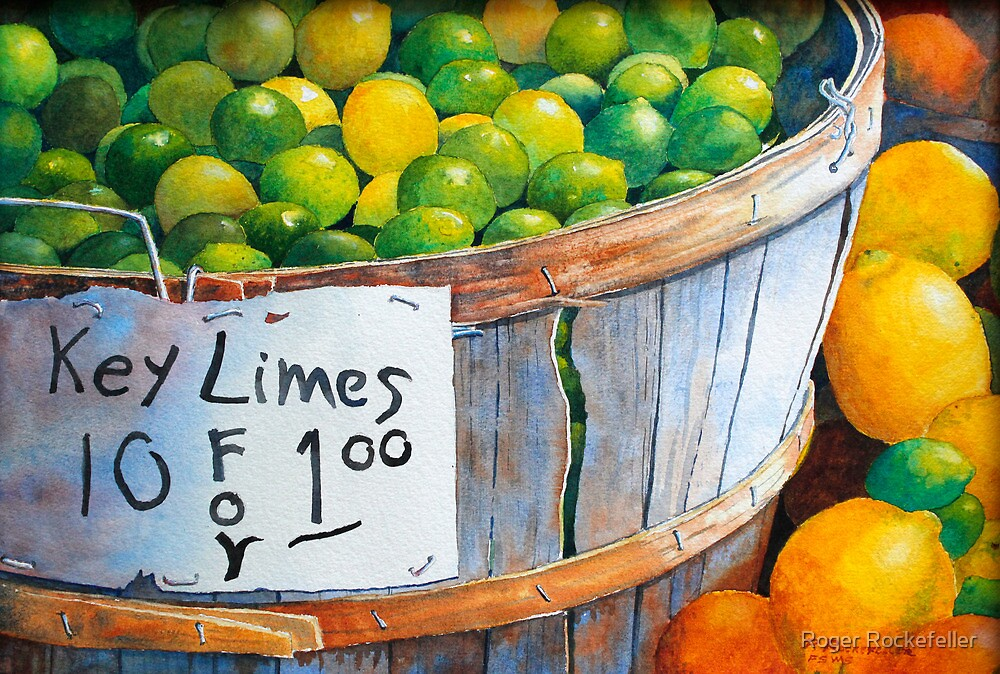 Key Limes, Ten for a Dollar by Roger Rockefeller
