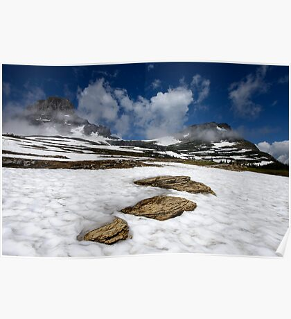 Glacier Stepping Stones Poster