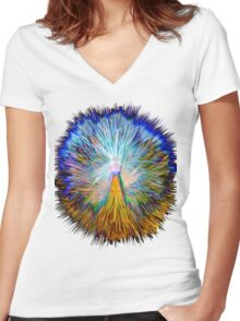 0024 Abstract Design Women's Fitted V-Neck T-Shirt